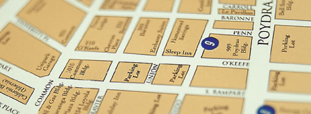 Map of Downtown New Orleans