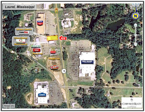 retail sublease in Laurel, Mississippi