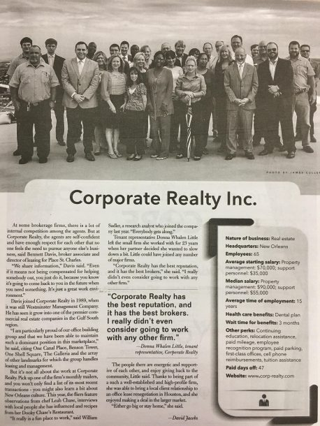 corporate realty news clipping
